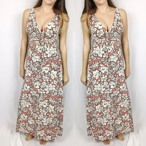 Soma • Pink + White Floral Maxi Dress